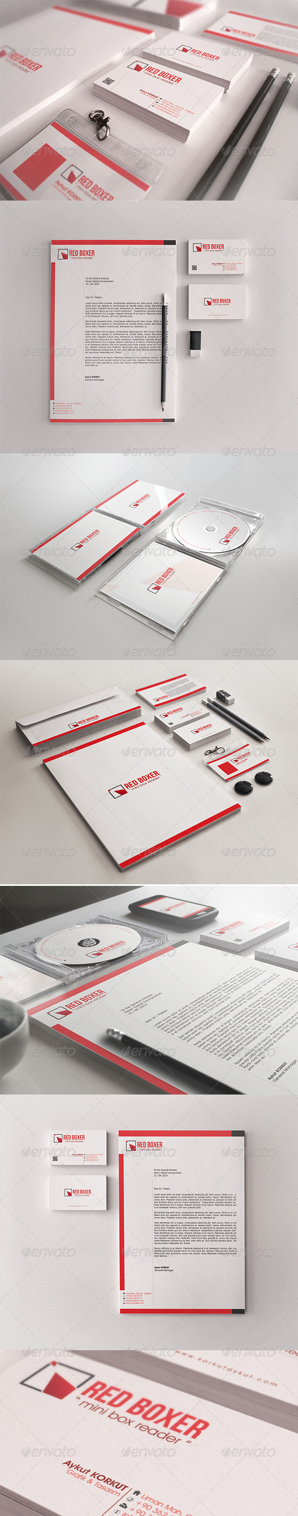 GraphicRiver Red Boxer Corporate Identity 7364010