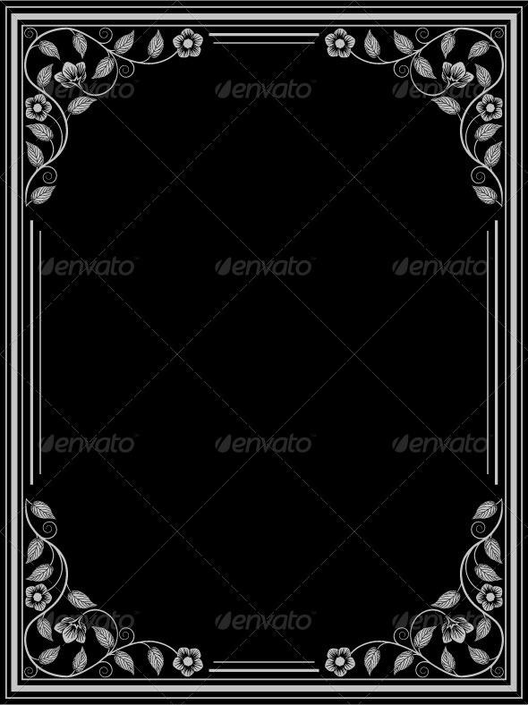 GraphicRiver Vintage Floral Frame 7364008