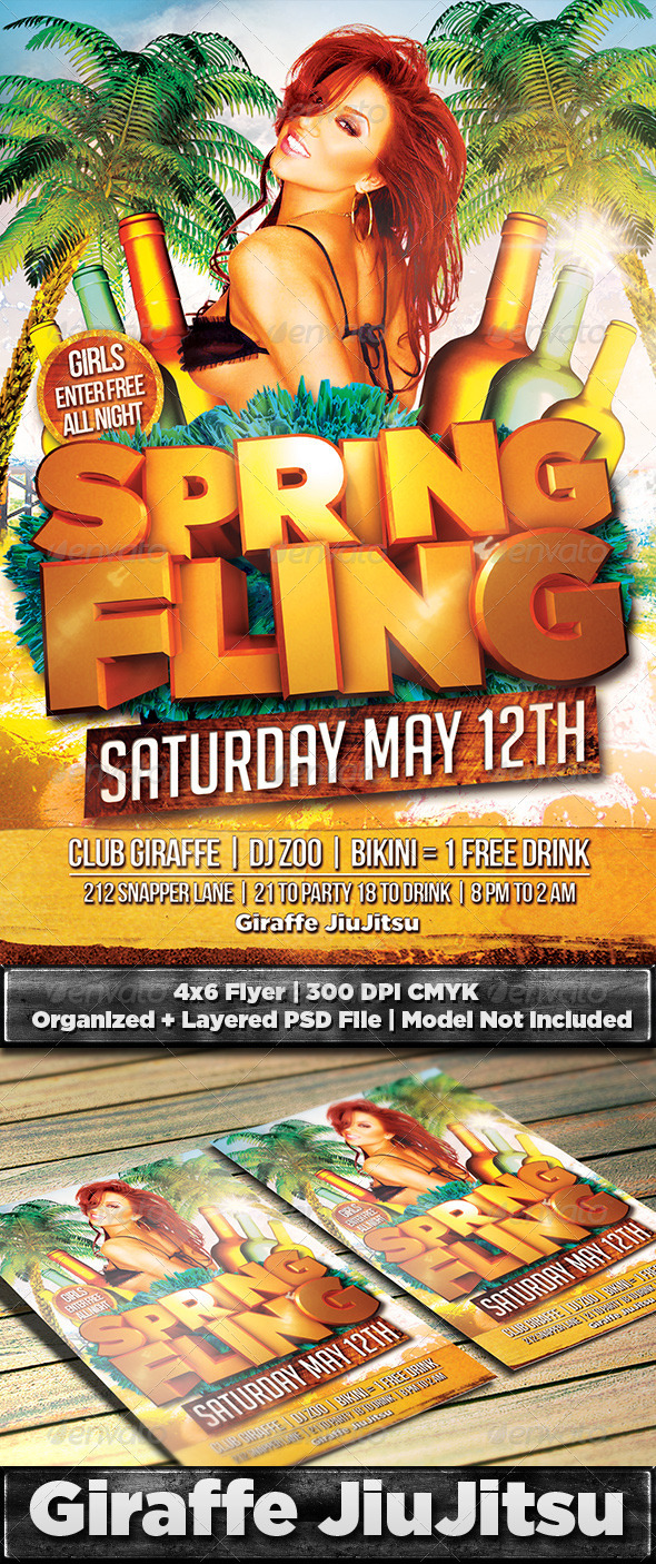 GraphicRiver Spring Fling Flyer Template PSD 7364034