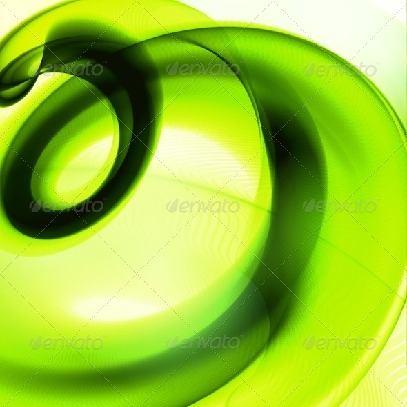 GraphicRiver Abstract Green Wave Background 7364595