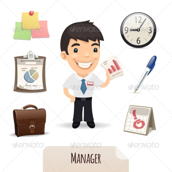 GraphicRiver Male Manager Icons Set 7364722