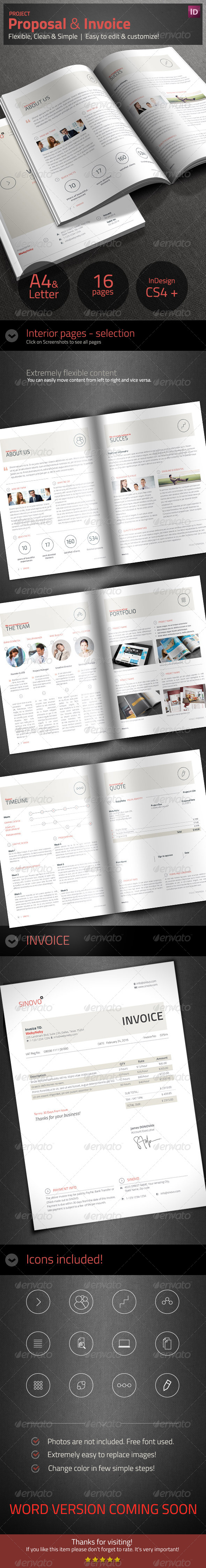 GraphicRiver Project Proposal & Invoice 7364914