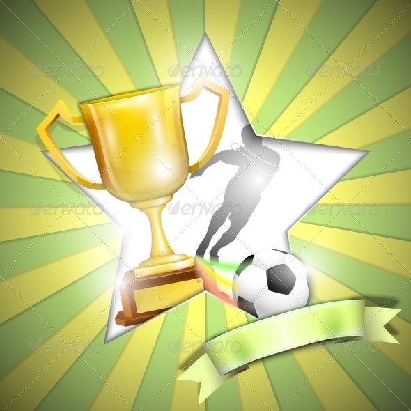 GraphicRiver Soccer Poster With Trophy Cup 7365232