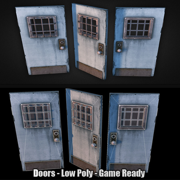 3DOcean Doors Low Poly 7365492