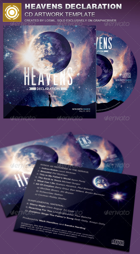 GraphicRiver Heavens Declaration CD Artwork Template 7365508