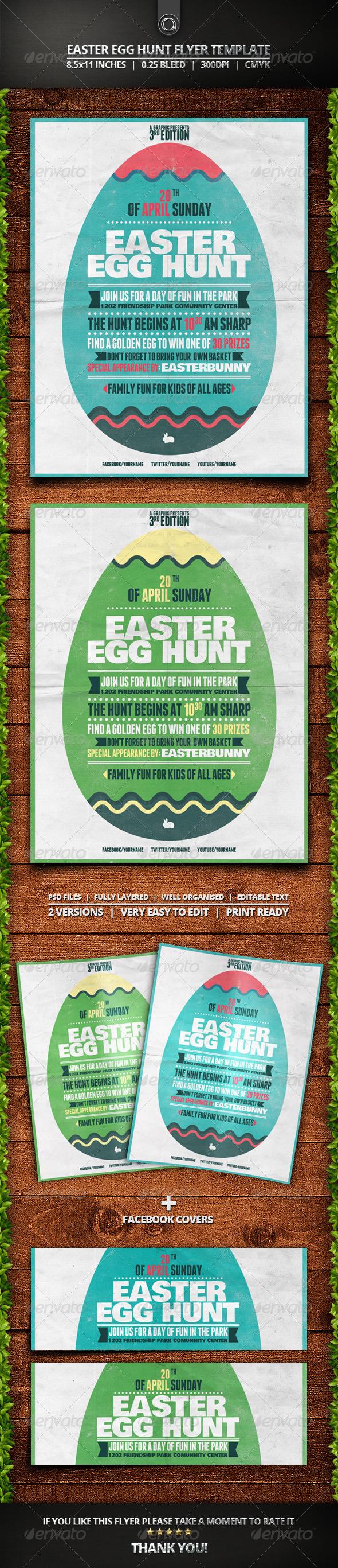 GraphicRiver Easter Egg Hunt Flyer Template 7365531