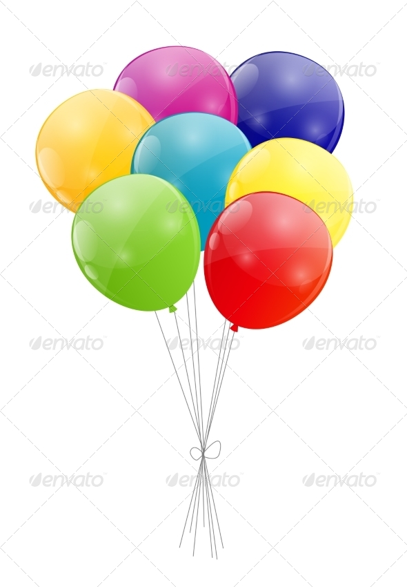 GraphicRiver Color Glossy Balloons Background 7365698
