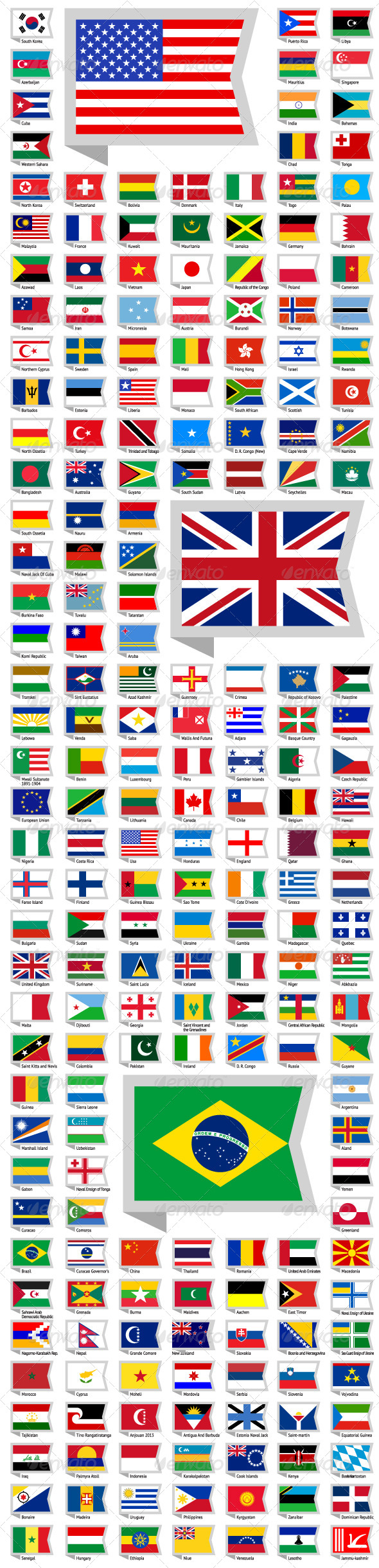 GraphicRiver 219 Flags of World 7350980