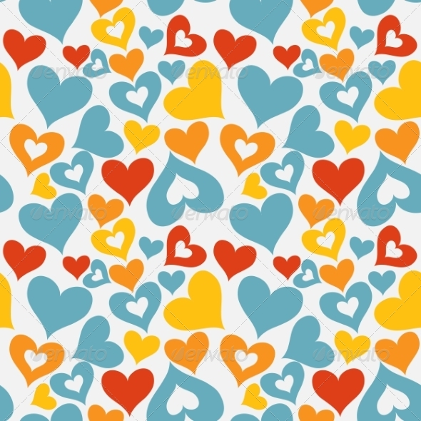 GraphicRiver Valentine Seamless Hearts Pattern 7365742