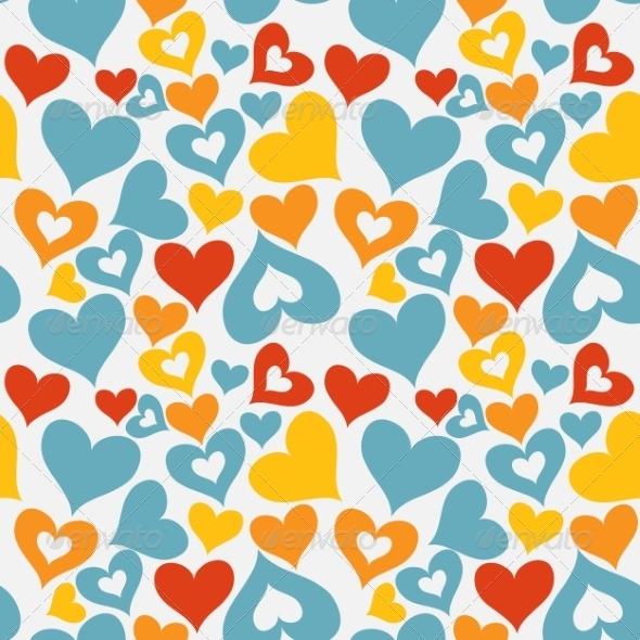 GraphicRiver Valentine Seamless Hearts Pattern 7365742