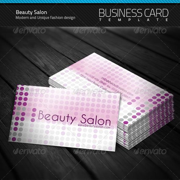 GraphicRiver Beauty Salon Business Card 104127