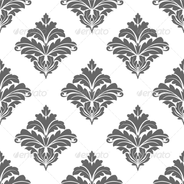 GraphicRiver Grey Seamless Floral Pattern 7365926