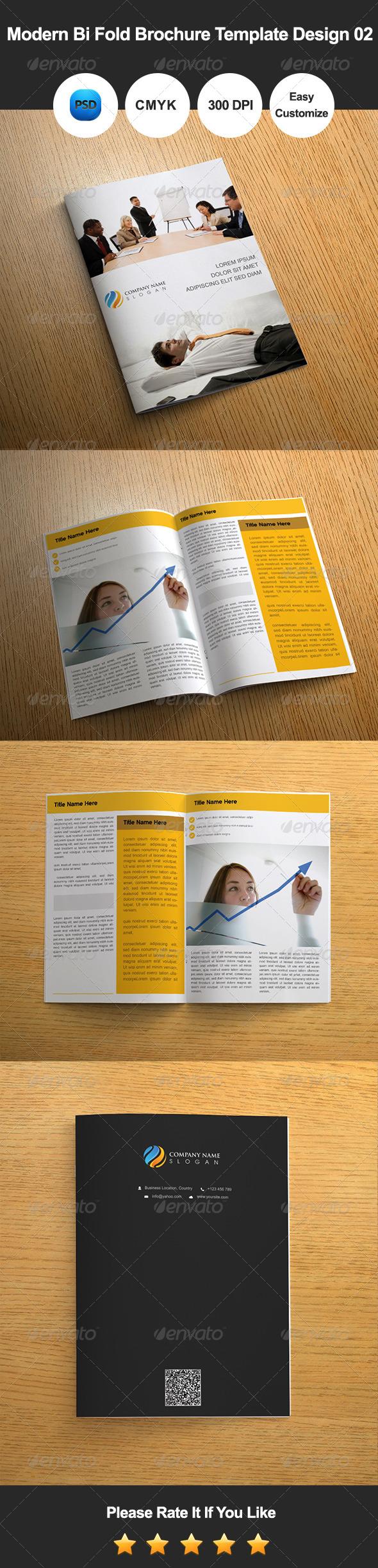 GraphicRiver Modern Bi Fold Brochure Template Design 02 7367114