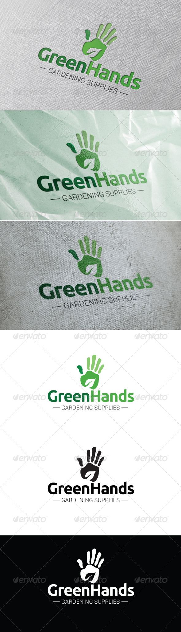 GraphicRiver Green Hands Logo Template 7368640