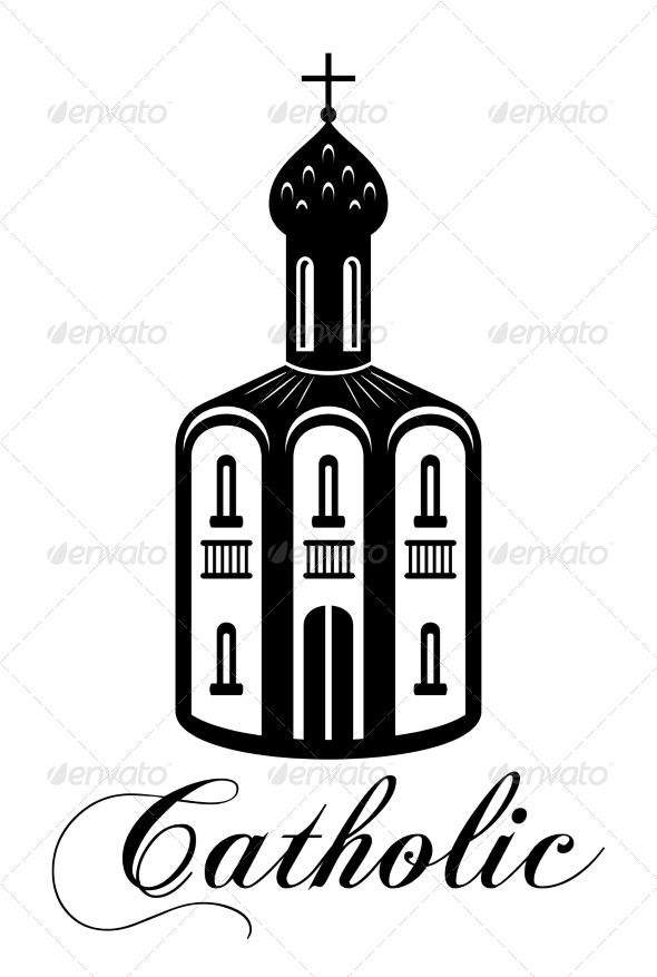 GraphicRiver Catholic Temple Building 7368714