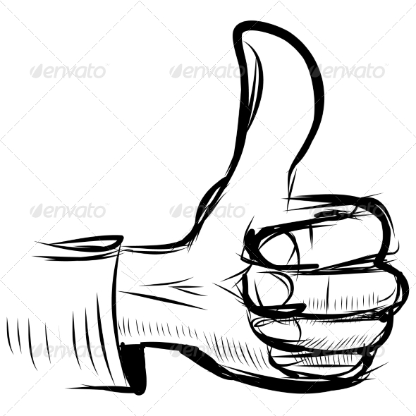 GraphicRiver Thumb Up Like Hand Symbol 7368803