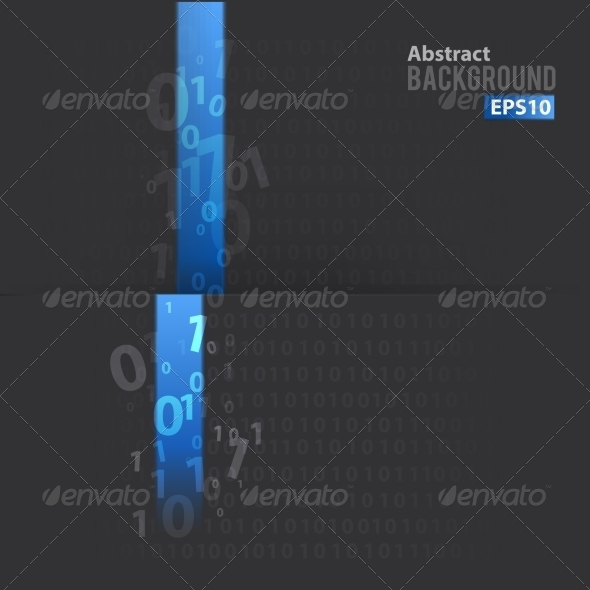 GraphicRiver Digital Background with Blue Line 7368846