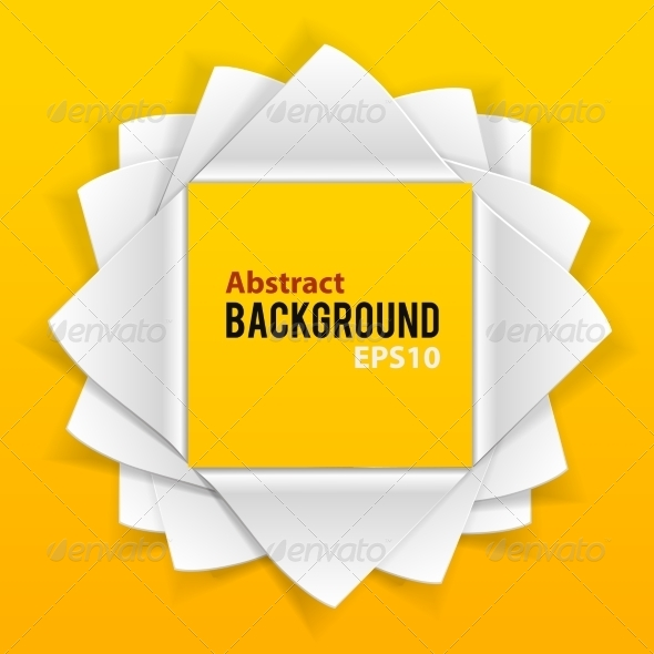 GraphicRiver Abstract Paper Elements Orange Background 7368852