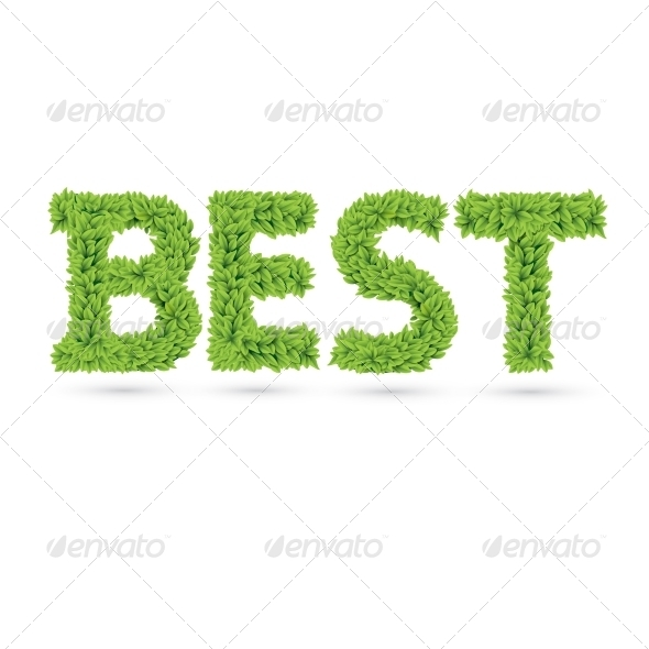 GraphicRiver Best Text of Green Leaves 7368915