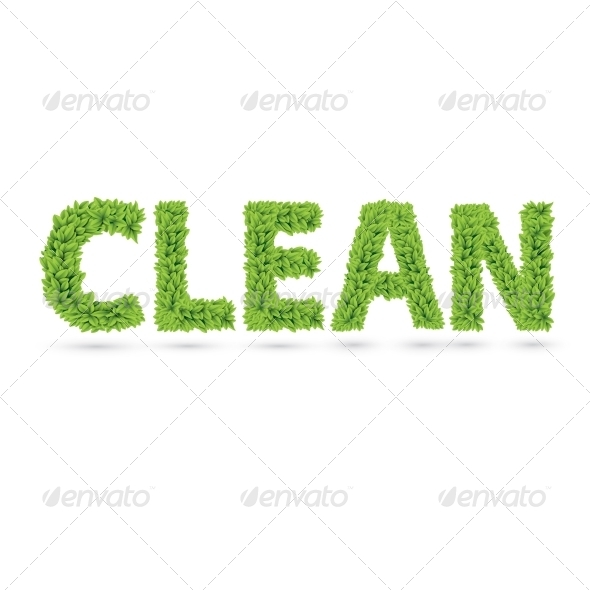 GraphicRiver Clean Text of Green Leaves 7368928