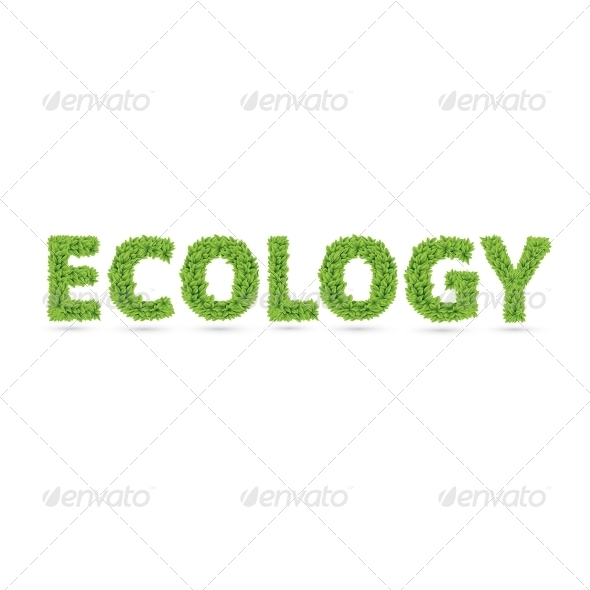 GraphicRiver Ecology Text of Green Leaves 7368930