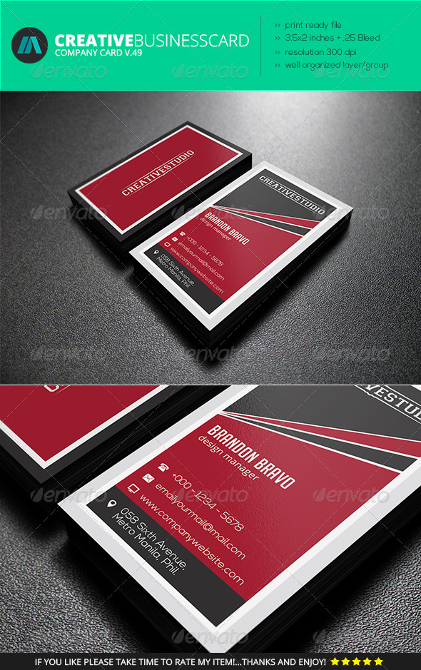 GraphicRiver IntenseArtisan Business Card Vol.49 7369129