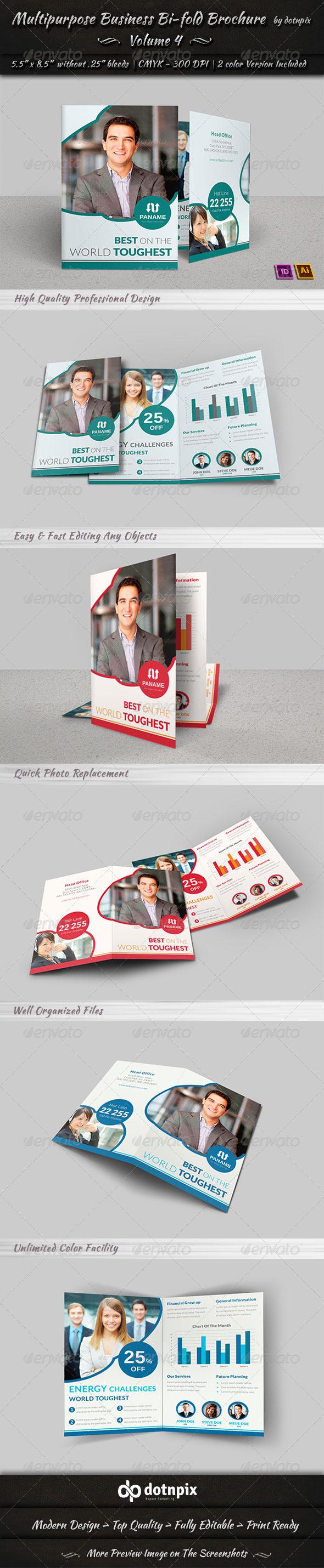 GraphicRiver Multipurpose Business Bi-Fold Brochure Volume 4 7369134