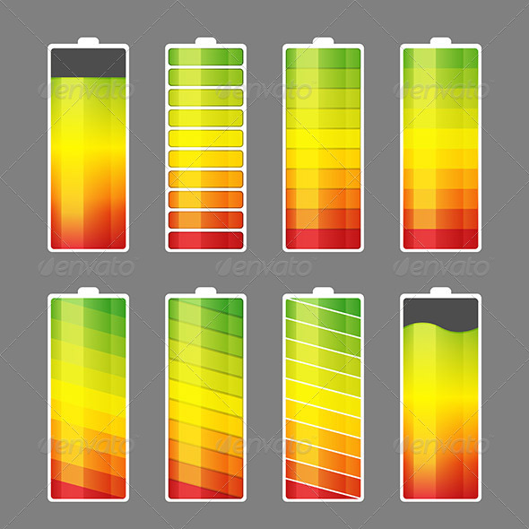 GraphicRiver Battery Energy Meter Icon 7369777