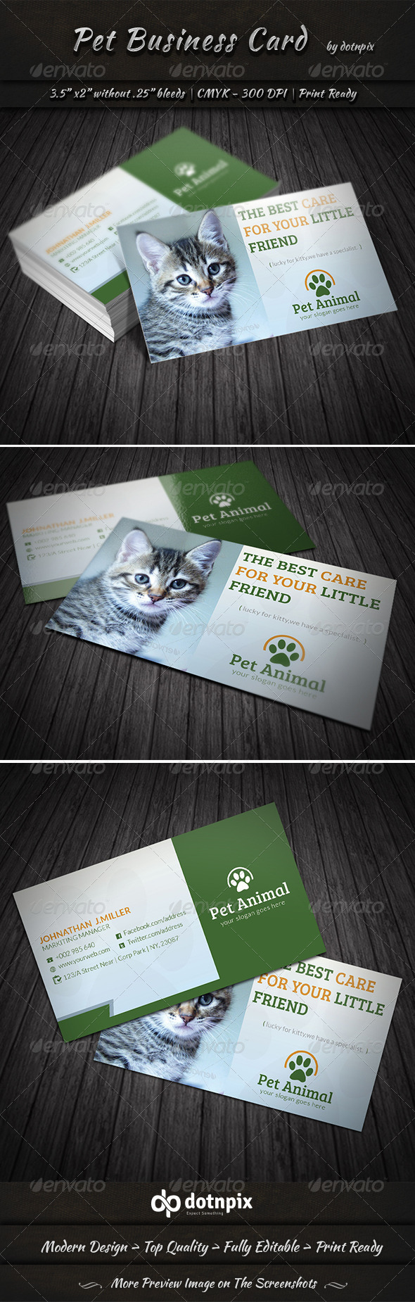 GraphicRiver Pet Business Card 7358061