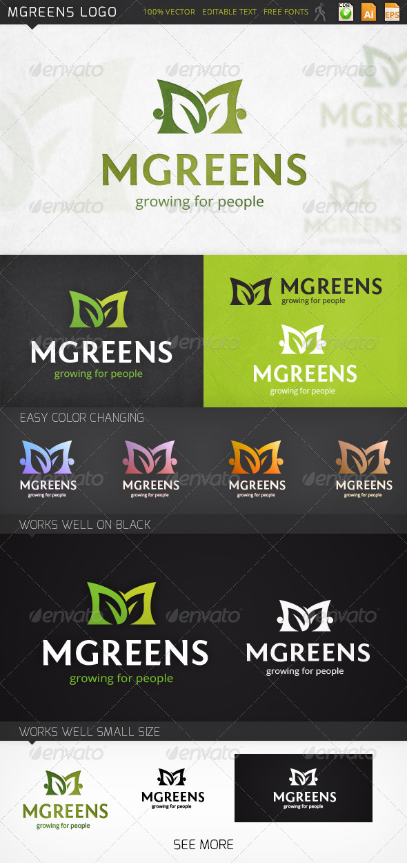 GraphicRiver Mgreens Logo 7370624