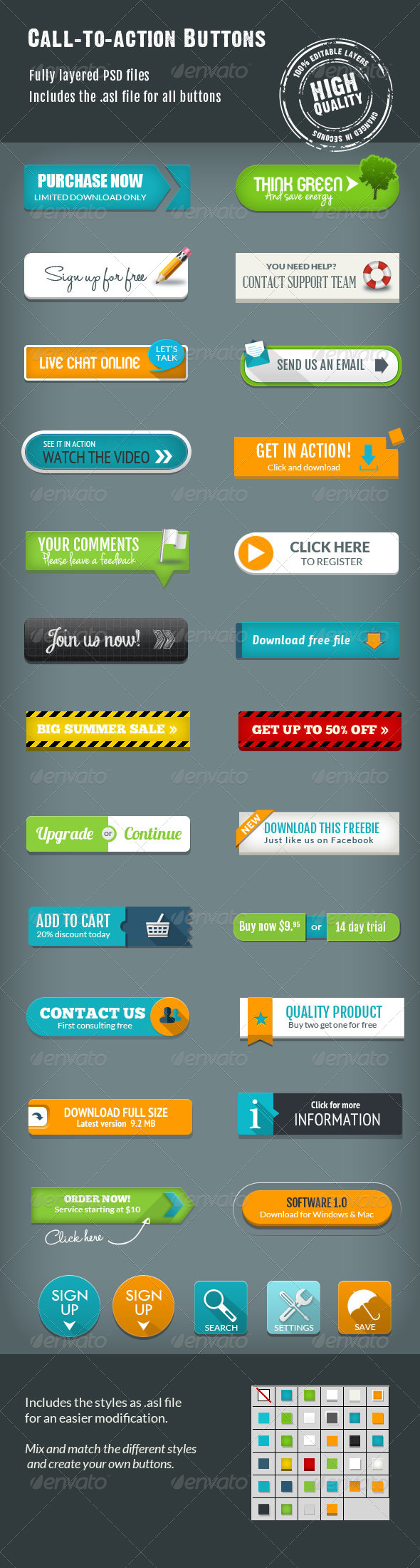 GraphicRiver Call-To-Action Buttons Vol.III 7370703
