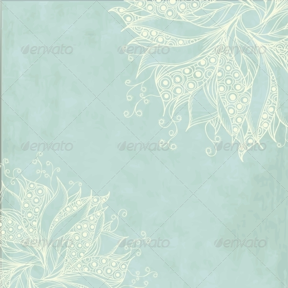 GraphicRiver Vintage Card with Fantasy Flowers 7370946