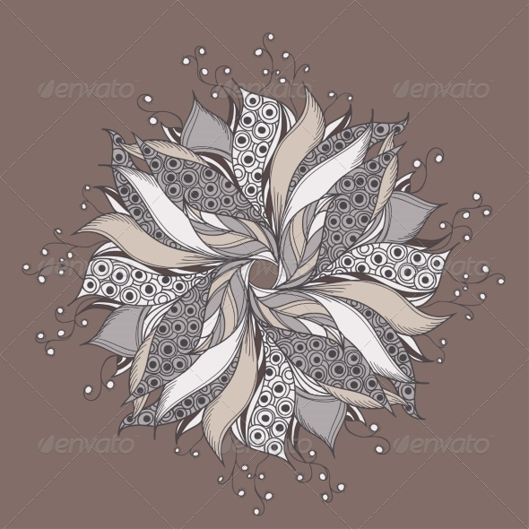 GraphicRiver Fantasy Flower Pattern 7370953