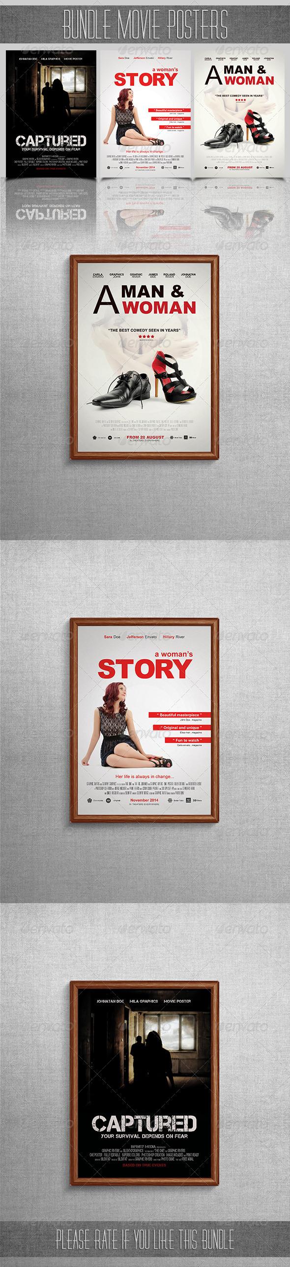 GraphicRiver Bundle Movie Posters 7370958
