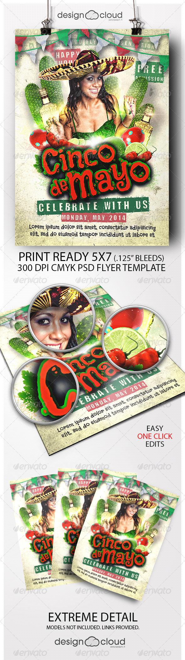 GraphicRiver Cinco De Mayo Celebration Flyer Template 7370980