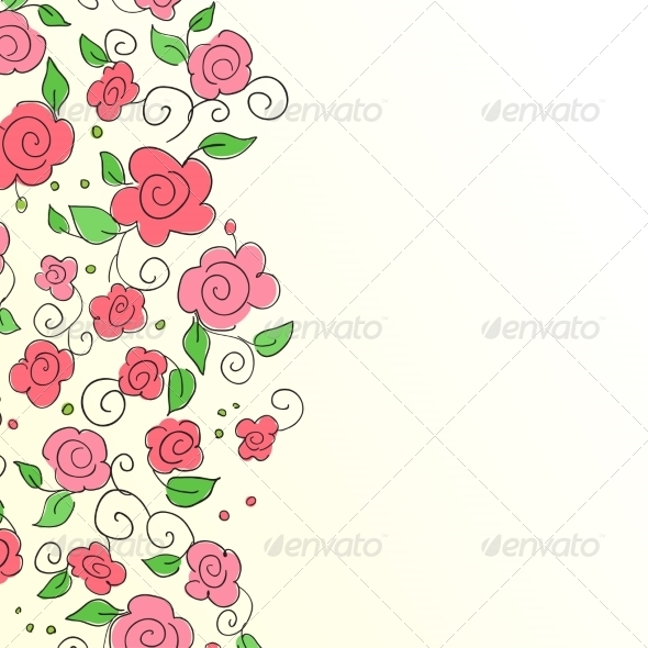 GraphicRiver Background with Hand Drawn Flower Pattern 7371112