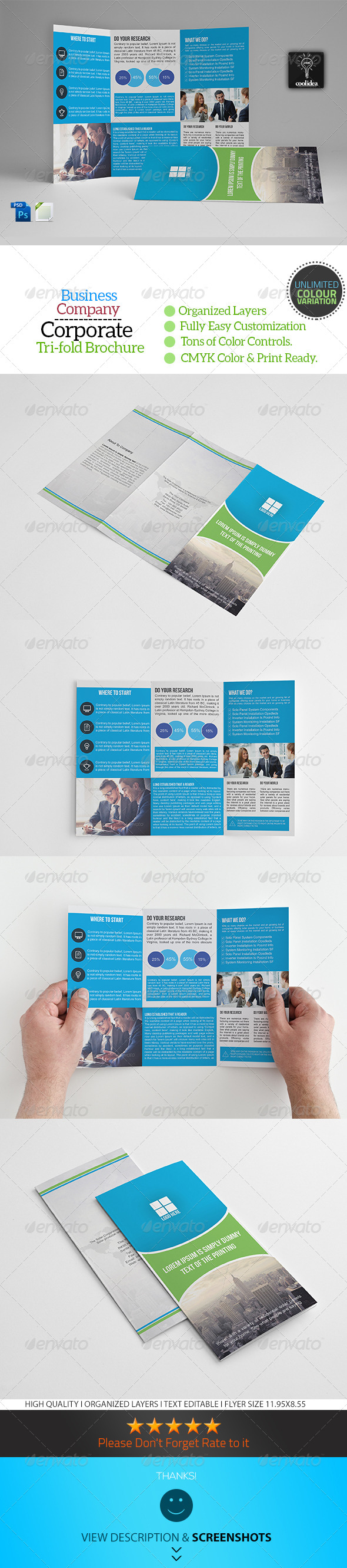 GraphicRiver A4 Trifold Business Brochure Template Vol08 7371124