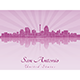 San Antonio Skyline in Purple Radiant Orchid - GraphicRiver Item for Sale