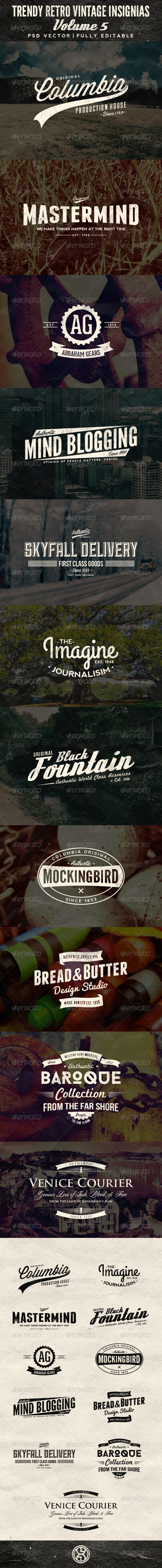 GraphicRiver Trendy Retro Vintage Insignias Volume 5 7371222
