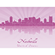 Nashville Skyline in Purple Radiant Orchid - GraphicRiver Item for Sale