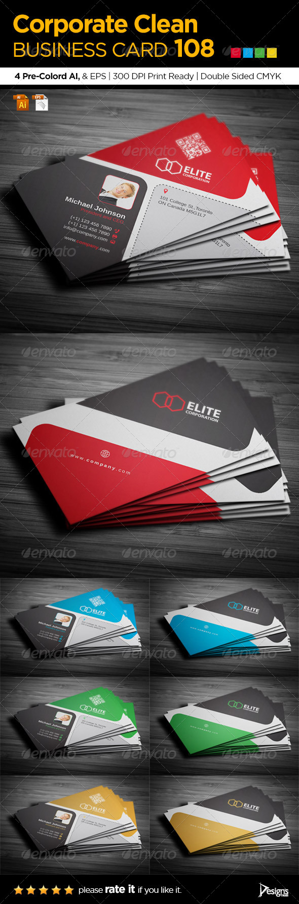 GraphicRiver Simple and Clean Business Card 108 7371378