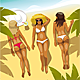 Three Girls on the Beach - GraphicRiver Item for Sale