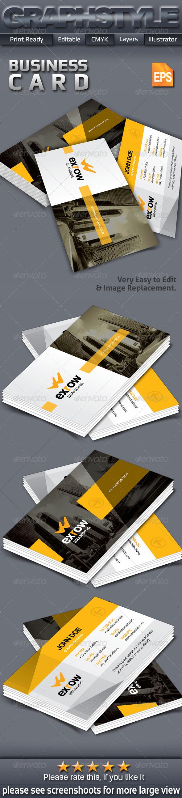 GraphicRiver Exrow Creative Business Card 7371728