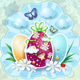 Easter Card in Vintage Style - GraphicRiver Item for Sale