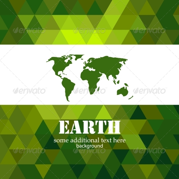 GraphicRiver Abstract green Earth mosaic background 7371962
