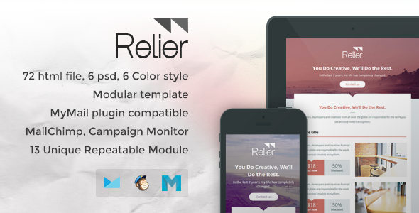 ThemeForest Relier Responsive Email Template 7371970