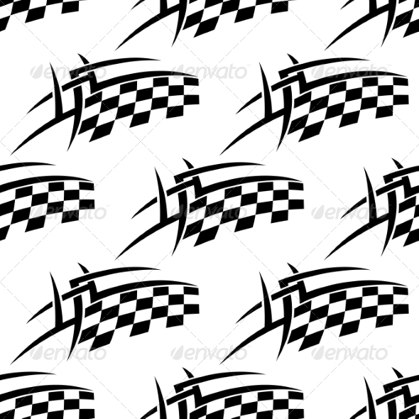 GraphicRiver Stylized Seamless Pattern of a Checkered Flag 7372085