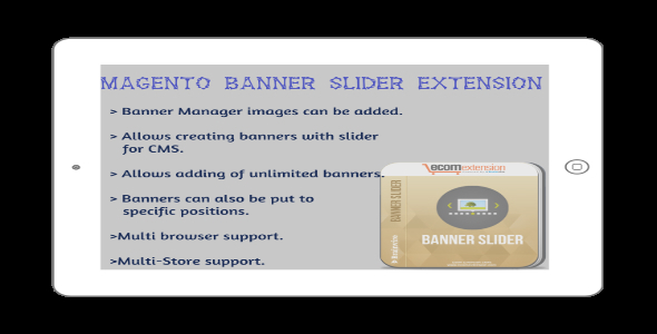 CodeCanyon Magento Banner Slider Extension 7372094