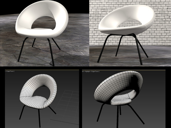 3DOcean Ring Chair 7372115
