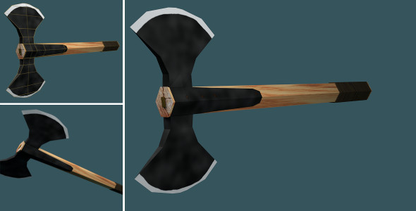 3DOcean Low Poly Double Axe 7372123